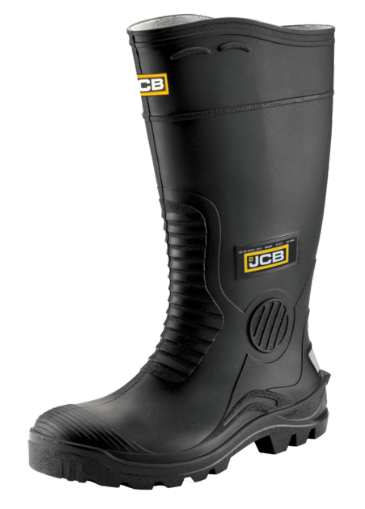 JCB Black Wellington with Steel Midsole HYDRO/B